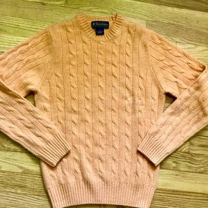 Brooks Brothers Cable Knit Sweater Orange X-Small